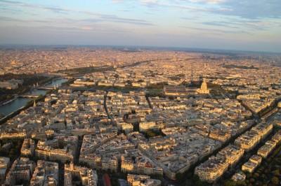 Sunsetting over Paris