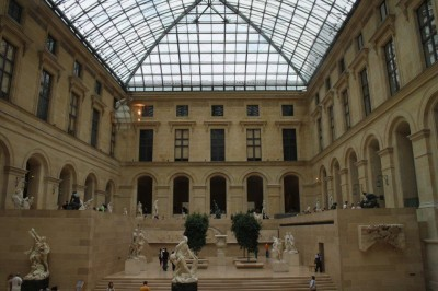 Looking into The louvre