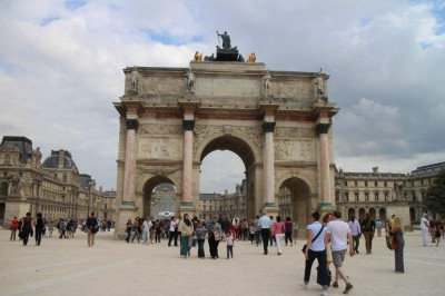 The big Archway at the Louvre