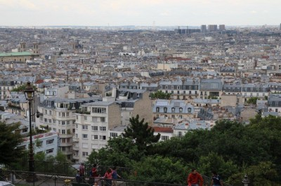 The view of Paris from Montemarte