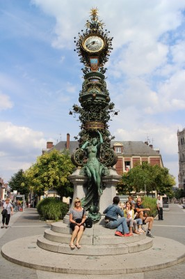 statue at town on our way to Calais