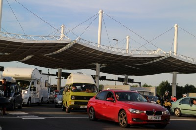 lining up for the Eurotunnel
