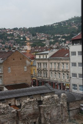 Sarajevo is low in the valley. Thankfully though it has the river running through so it has access to water.