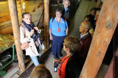 Our local tour guide describing the movements through the tunnel