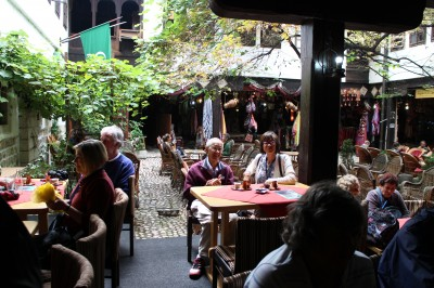 Sitting at the Turkish Coffee house