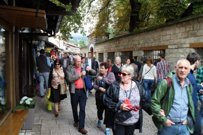 Some of our tour party as we wandered the little streets of the Old City