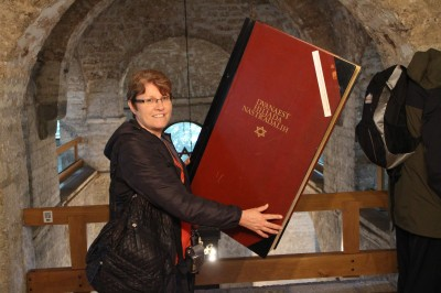 A BIG book containing all the names of the Jewish people who died in the war.