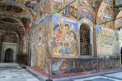 the mosaics were on all walls of the porch in front of the church