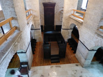 The inside of the Synagogue