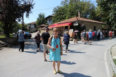 Just off the bus and venturing the streets of Arbanasi to see the different houses