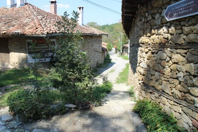 There was a lot of overgrown grass and plants, and narrow streets with stone walls