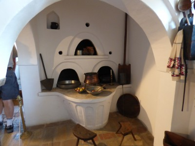 The kitchen and stove