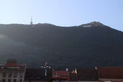 I think Brasov has seen too many Hollywood movies. They have their own sign way up on the hillside