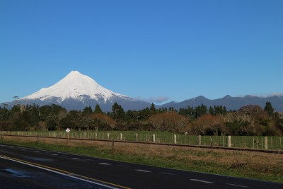 Our wonderful Mount Taranaki. I never tire of this view.