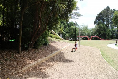 The flying fox at the Park playground