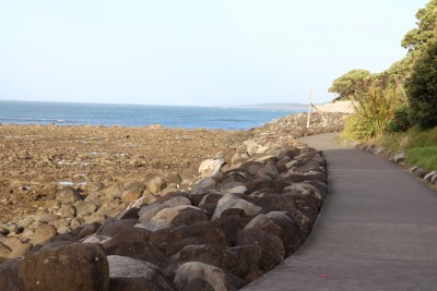 The start of the walkway from the breakwater end :-)
