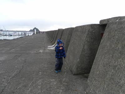 The boys love the breakwater. Plenty of rocks to climb and usually a fisherman or two to see the fish they catch :-)