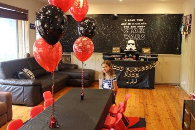 The whole house was set up in a Star Wars theme to celebrate Luke turning 1 :-)