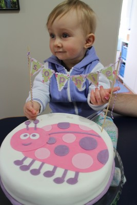 And beautiful little Sophie with her cake :-)