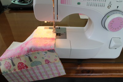 Sew neatly around the outside edge :-)