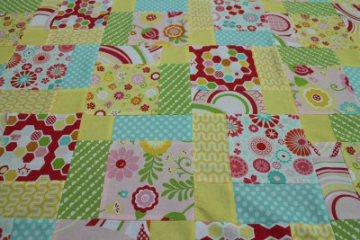 All sewn together and pressed. I'm loving these bright colours!