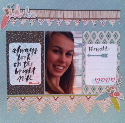 Another Leeara page. I'm trying to catch up on completing her album. this page was created using a Kaisercraft Kit.