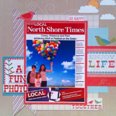 A fun photo taken at St Ives in Sydney. Paper use is Echo Park.
