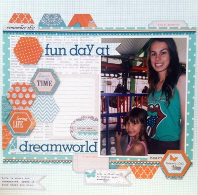 At Dreamworld on the Gold Coast. Page created with Teresa Collins Papers, Tell your story :-)
