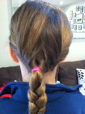 Just one of the hair styles (a little messy), But I did french plait as well :-)