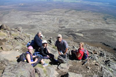 Our lunch spot at the summit of Mt Tongariro